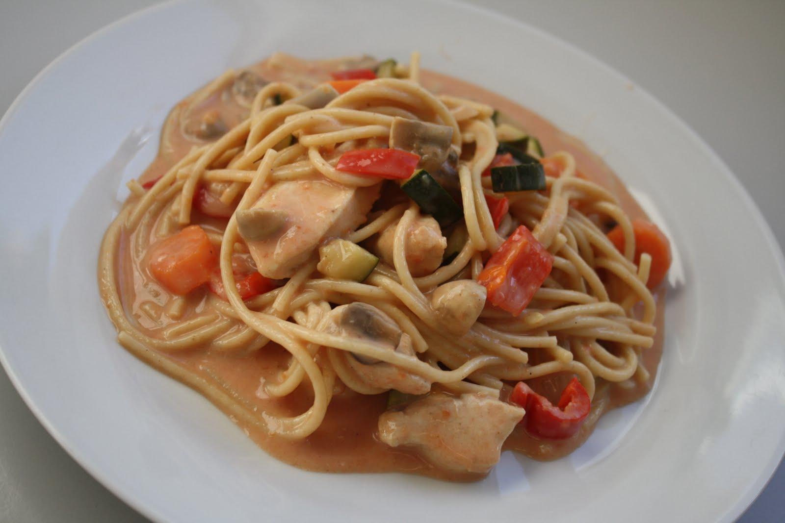 kylling sovs til pasta