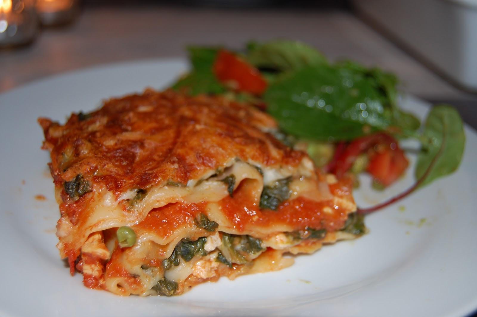 kylling spinat lasagne