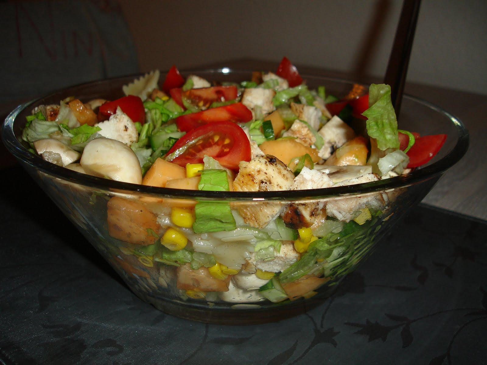 god salat til kylling
