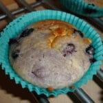 Blåbærmuffins med hvid chokolade