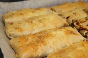 Fyldte pandekager med spinat skinke og parmesan