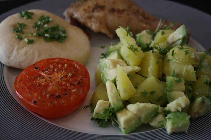kylling i fad med kartofler