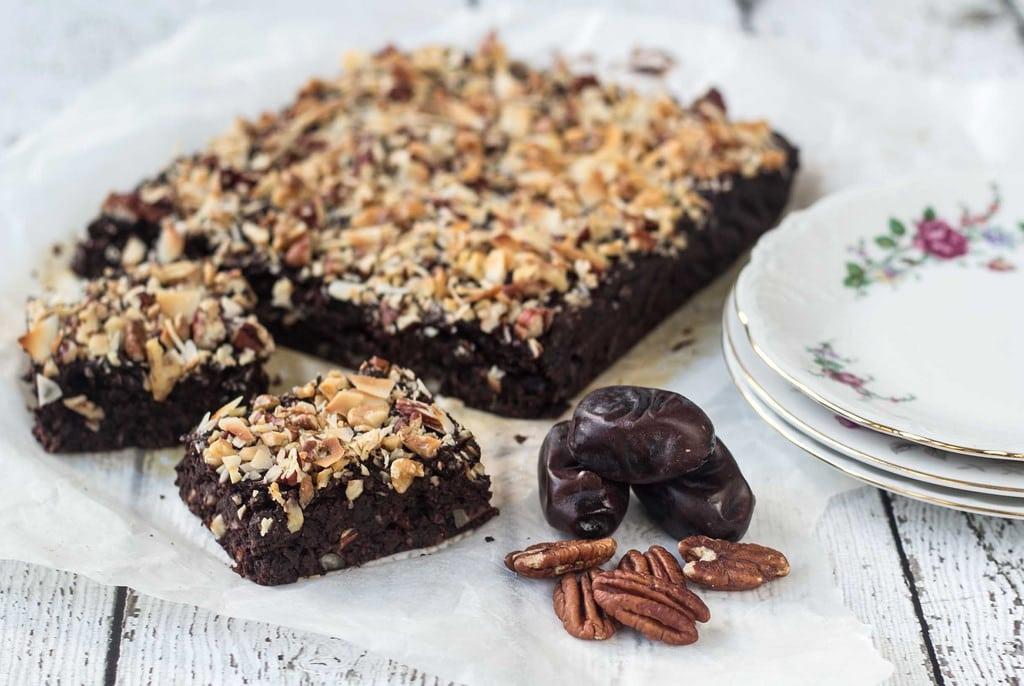 Sund brownie uden sukker og mel