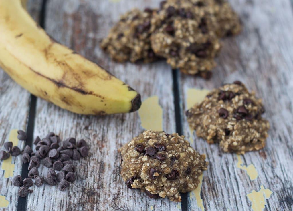 Sunde banancookies med chokolade