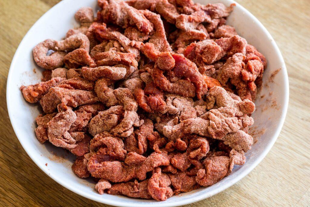 Oksekødsstrimler