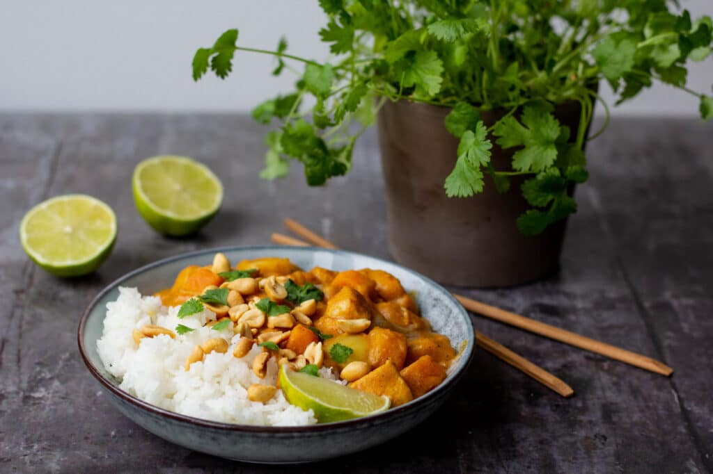 Massaman curry med kylling Massaman Gai