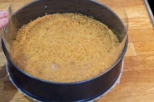 Cheesecake med hindbærgelé