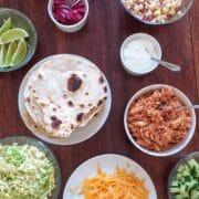 Tacos med pulled chicken