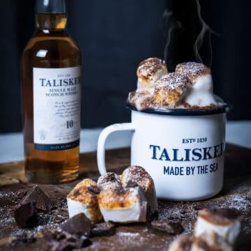 Varm chokolade med whisky - Talisker whisky