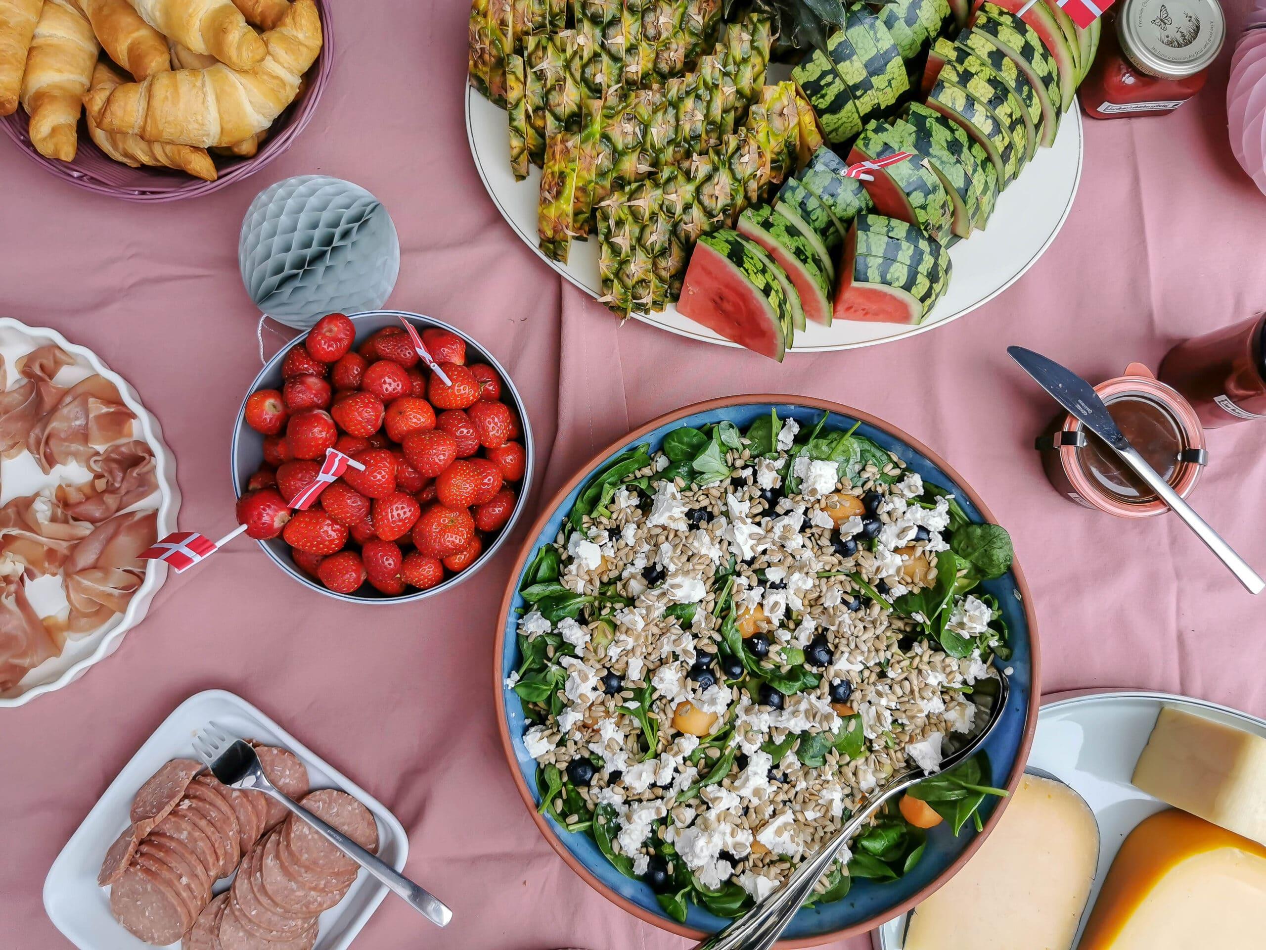 Brunchbuffet til Amalies 1 års fødselsdag