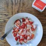 Jordbær med fløde