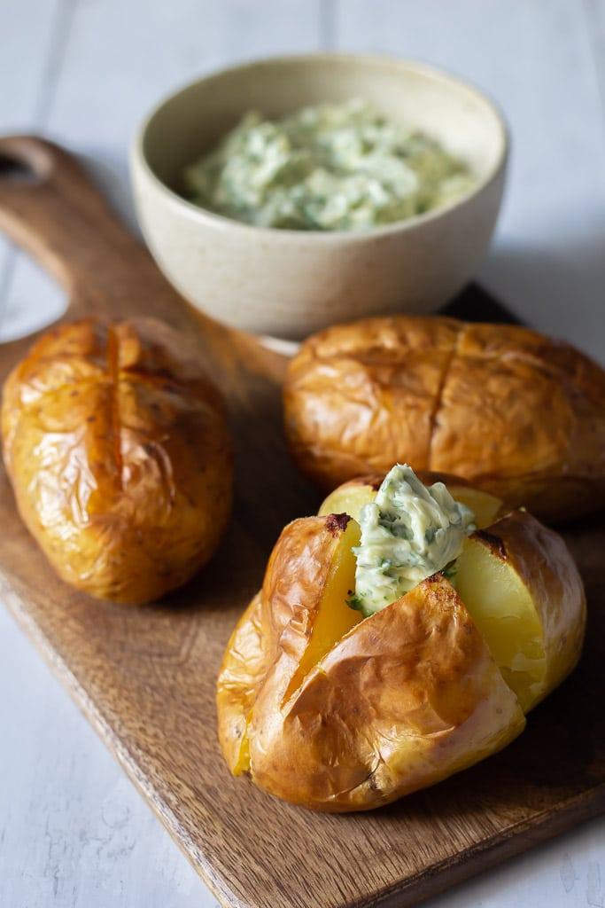 Bagekartofler opskrift