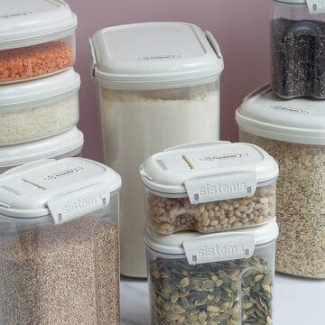 Opbevaring af mel gryn og kerner opbevaringsboetter sistema bake it melmøl