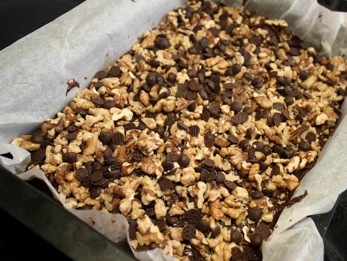 Dobbelt brownie med karamel
