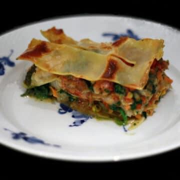 Lasagne med torsk og pesto